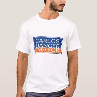 Camiseta Perigo de Carlos para o Mayor - homens