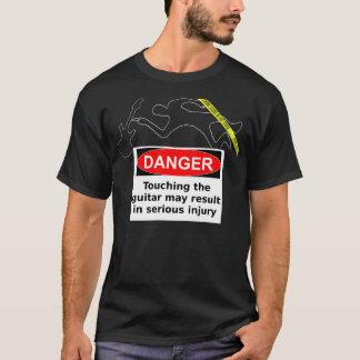 Camiseta PERIGO! Não toque na guitarra!