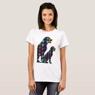 Camiseta persiga animais pintados ponto dos amantes do