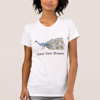 Camiseta Persiga seu t-shirt de Peackock dos sonhos