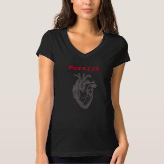 Camiseta Persiste o coração do ~