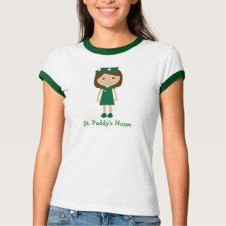 Camiseta Personagem de desenho animado bonito da enfermeira