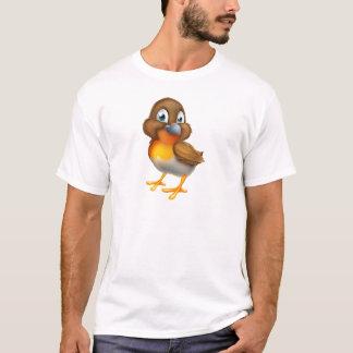 Camiseta Personagem de desenho animado do pássaro do pisco