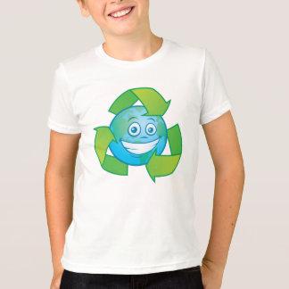 Camiseta Personagem de desenho animado do reciclar da terra