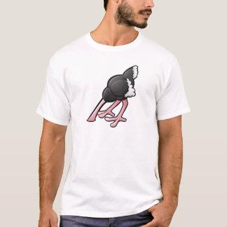 Camiseta Personagem de desenho animado enterrado cabeça da