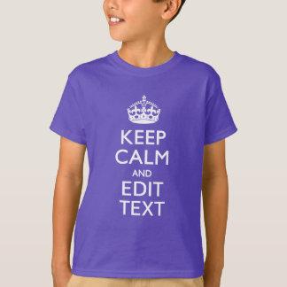 Camiseta Personalizado MANTENHA A CALMA E o seu texto no