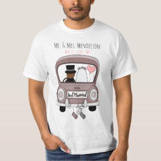 Camiseta Personalizado recentemente weds a lua de mel