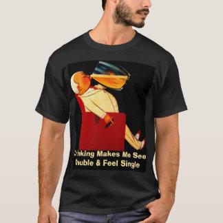 Camiseta Personalizado veja o solteiro dobro da sensação