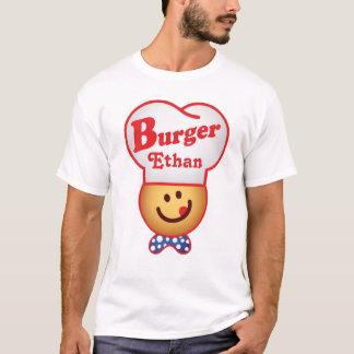 Camiseta Personalize a junção retro do hamburguer - vintage