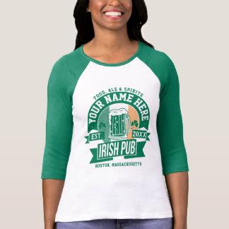 Camiseta Personalize isto Dia de São Patrício irlandês do
