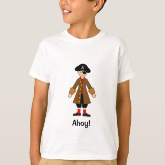 Camiseta Personalize-me -- Pirateie o traje do capitão