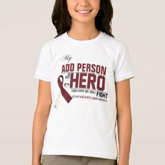 Camiseta Personalize MEU HERÓI:  Cancer da cabeça & do
