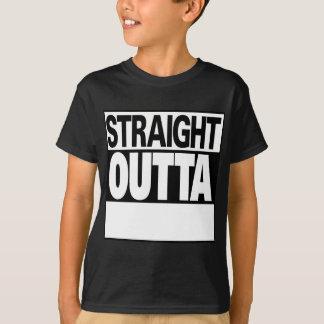Camiseta personalize o outta reto