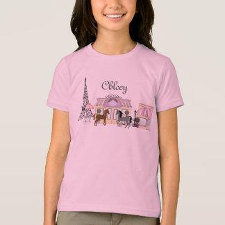 Camiseta Personalize o t-shirt bonito do cavalo de Paris