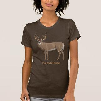 Camiseta Personalize seu caçador do fanfarrão dos cervos de