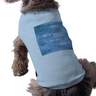 Camiseta Personalize seu cachorrinho marcado camisola de