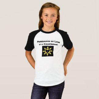 Camiseta Persuasão do amor em uma sala do tribunal p138