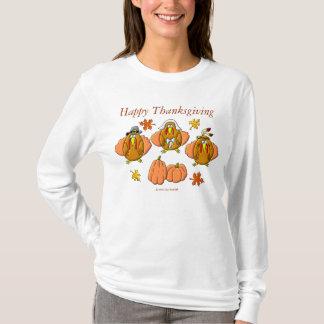 Camiseta Perus felizes da acção de graças