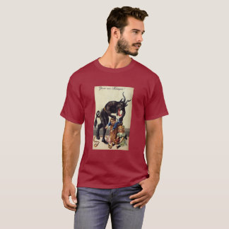 Camiseta pesadelo do Natal de 1900's Gruss Vom Krampus