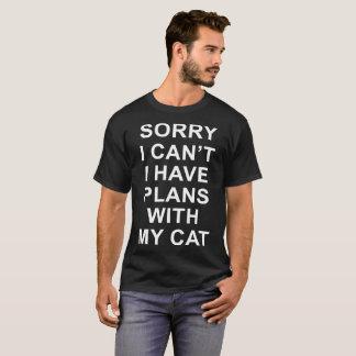 Camiseta pesaroso eu chanfro-me tenho planos com meus