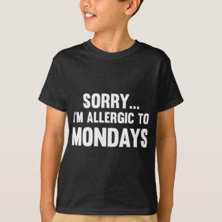 Camiseta Pesaroso… Eu sou alérgico a segundas-feiras