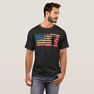 Camiseta Pesca da bandeira americana - t-shirt da pesca da