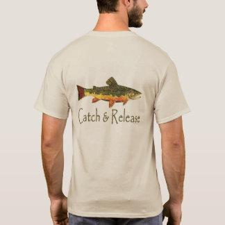 Camiseta Pesca da truta da captura & da liberação
