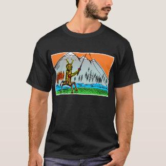 Camiseta Pesca de Tenkara do robô no outono - parte