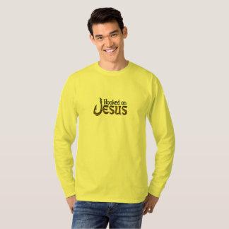 Camiseta Pescador cristão enganchado em Jesus