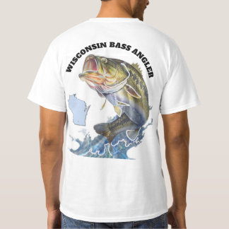 CAMISETA PESCADOR DO BAIXO DE WISCONSIN