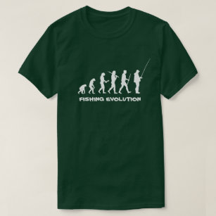 Camiseta Pescador engraçado da evolução da pesca