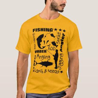 Camiseta Pescadores que pescam a tipografia temático da