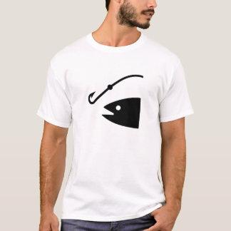 Camiseta Pescando o t-shirt do pictograma da atração