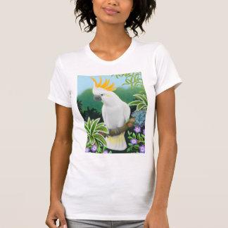 Camiseta Pescoço cor de limão da colher das senhoras do