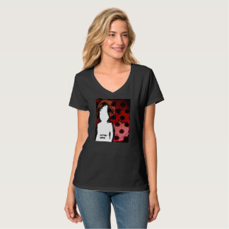 Camiseta Pescoço do Vee das mulheres de GUTTERWITCH