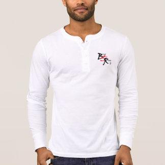 Camiseta Pescoço longo da luva do logotipo V branco