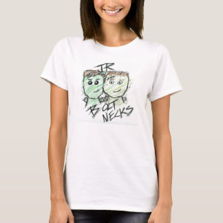 Camiseta Pescoços do parafuso do júnior