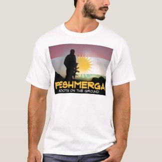 Camiseta Peshmerga - botas na terra