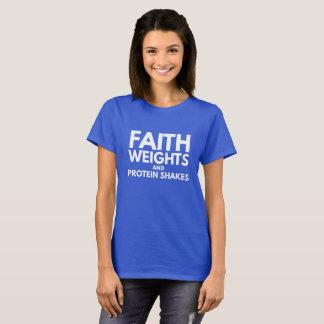 Camiseta Pesos da fé e agitações da proteína