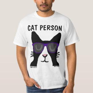 Camiseta PESSOA do CAT, gatinho da panda com t-shirt dos