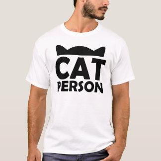 Camiseta Pessoa do gato