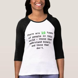 Camiseta pessoas binárias