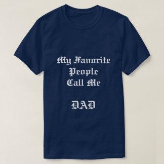 Camiseta Pessoas favoritas do t-shirt dos azuis marinhos