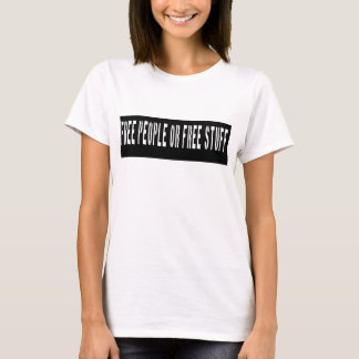 Camiseta Pessoas livres ou estêncil livre do material