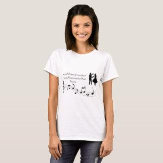 Camiseta pessoas que dançam a arte da música das notas