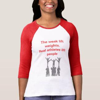 Camiseta Pessoas reais do elevador dos atletas