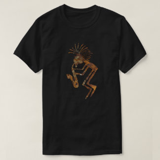 Camiseta Petroglyph do jogador de Kokopelli Saxaphone