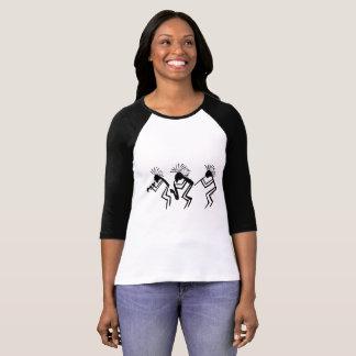 Camiseta Petroglyph do jogador do chifre e de flauta de
