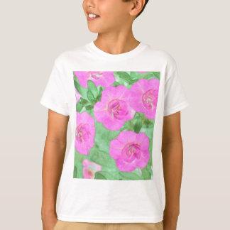Camiseta Petúnias pintados
