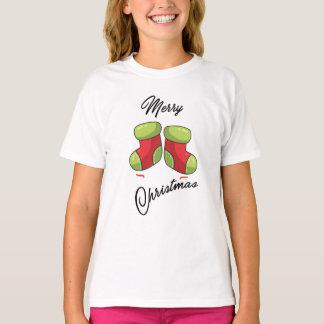 Camiseta Peúgas bonitos do Natal